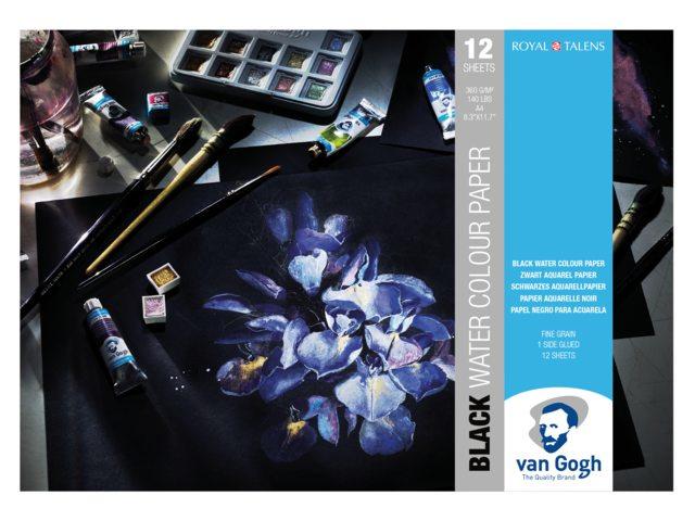 Van Gogh Aquarelpapier 21 x 29,7 cm -12 vellen 360 grams Zwart