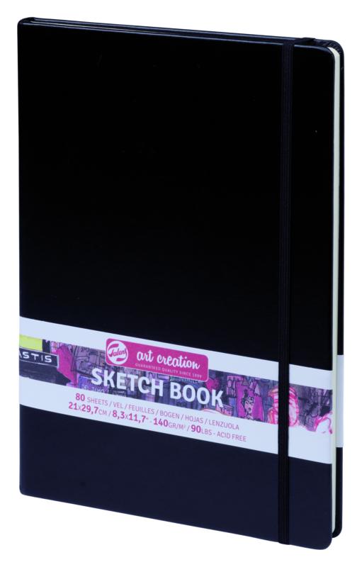 Talens art creation Brush / Schetsboek 21 x 29,7 cm - 80 vellen - Zwart