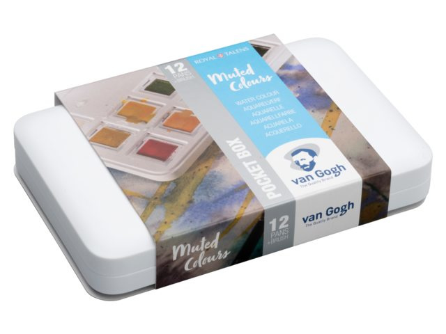 Van Gogh aquarelverf - Pocketbox 12 napjes - Muted Colours