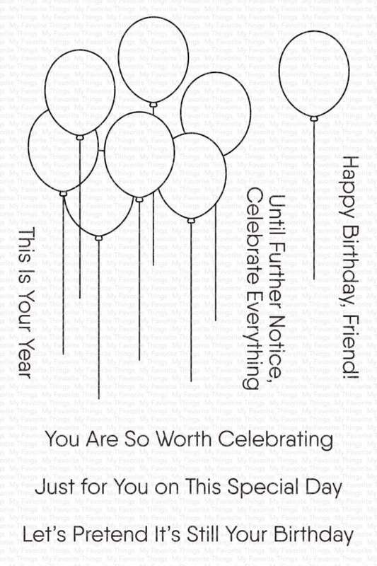 My Favorite Things clear stamps - set van 8 - Balloon Bouquet