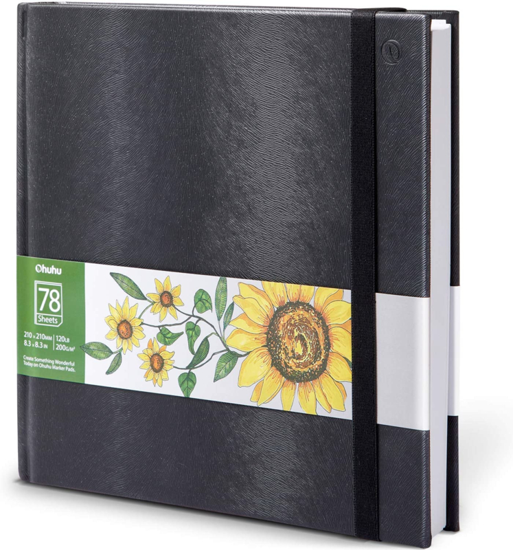 Ohuhu Alcohol marker papier pad 21 x 21 cm - 200 grams - 78 vellen