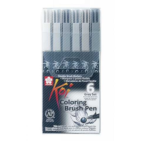 Sakura Koi coloring brush pen set van 6