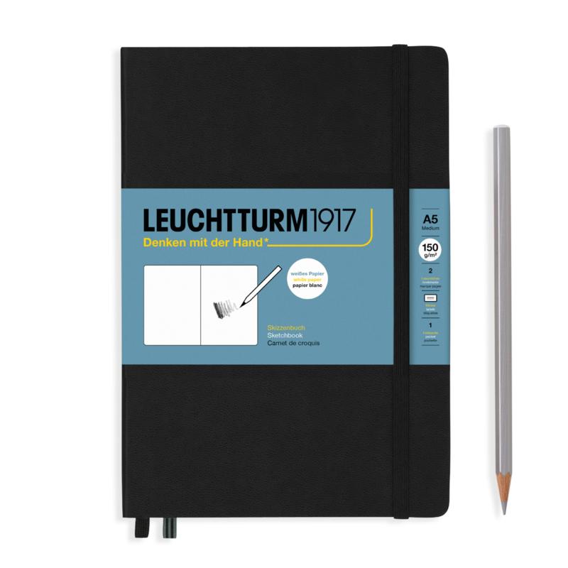 LEUCHTTURM 1917 Sketchbook Medium A5 - 150 grams - Black