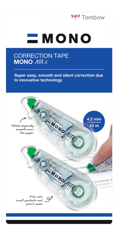 Tombow Correctieroller - MONO air 4 - set van 2