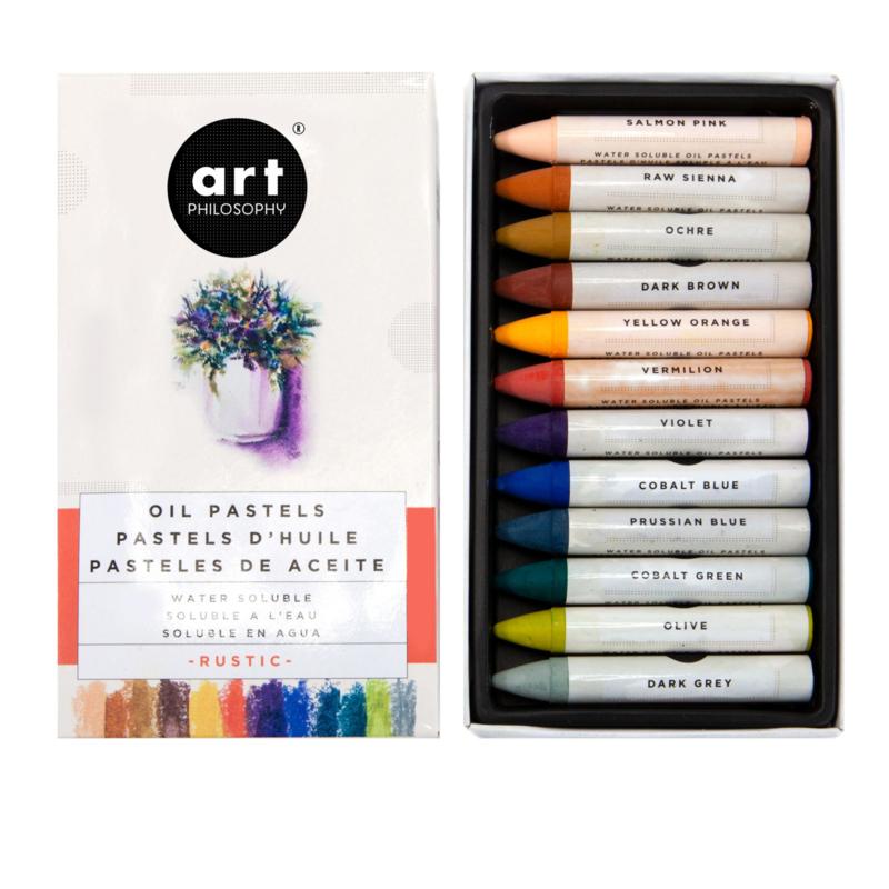 Prima Marketing Oil Pastels - Rustic - set van 12