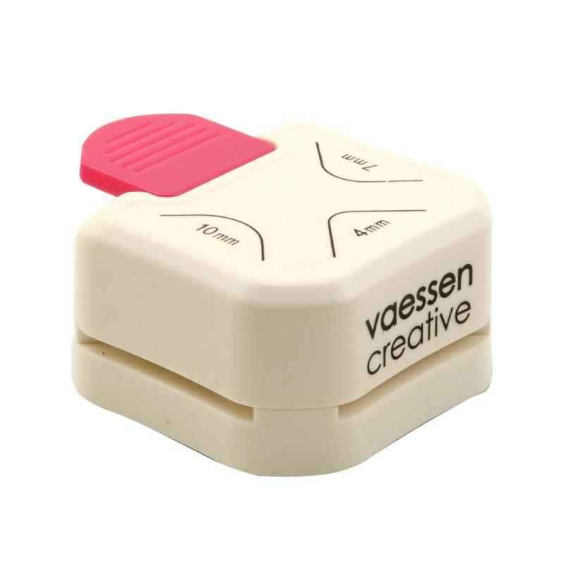 Vaessen Creative - 3 in 1 Hoekpons 4-7-10mm