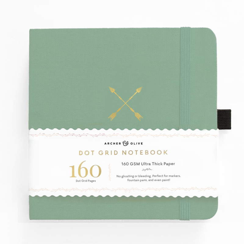 Archer & Olive bulletjournal/Notitieboek 20,3 x 20,3 cm - 160 pagina's - Dotted - Twin Arrows