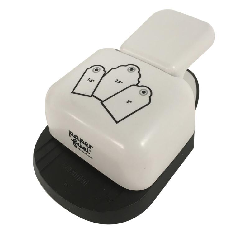 Paperfuel etiketten pons hoek 3 in 1 - 3,8 cm, 5,1 cm en 6,4 cm - ronde hoeken