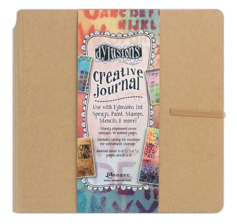 Ranger Dylusions creative journal square - 48 pagina's - Kraft - wit papier