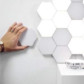 Helios Touch Hexagon Creatieve Decoratieve Wandlamp Warm Wit - DIY-Patroon, set van 6 stuks