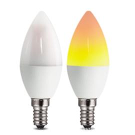 Ledlamp met Vlameffect 2 standen - Vuurvlam Lamp -LED Flame Bulb - Kaars Effect Led Vlam Lamp