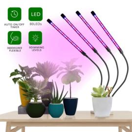 4 Armige Grow Groei Klemspot Bloeilamp 4 Lamps Kweeklamp LED Strip