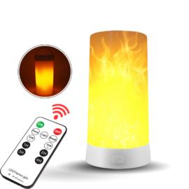 Oplaadbare Decoratie Vlamlamp + Outdoor Camping Lamp Vlam effect Standalone met afstandsbediening en magneet - Vuurvlam Lamp -LED Flame Bulb - Kaars Effect Led Vlam Lamp