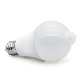12w LED E27 Lamp met Bewegings-detectie Warm Wit Set 2 stuks
