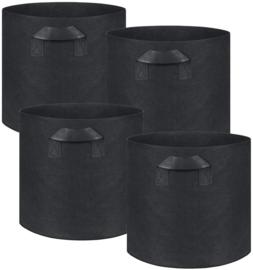 Set 4 stuks Groeizak - Grow bag - Kweekzak 55 liter - 45 cm diameter - 35 cm hoog - Plantenzak