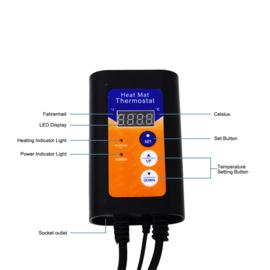 Warmtemat model S, Verwarmingsmat, Warmtekussen Dieren, Seedling Heatmat  52cm*25cm , Kweekmat met digitale Thermostaat
