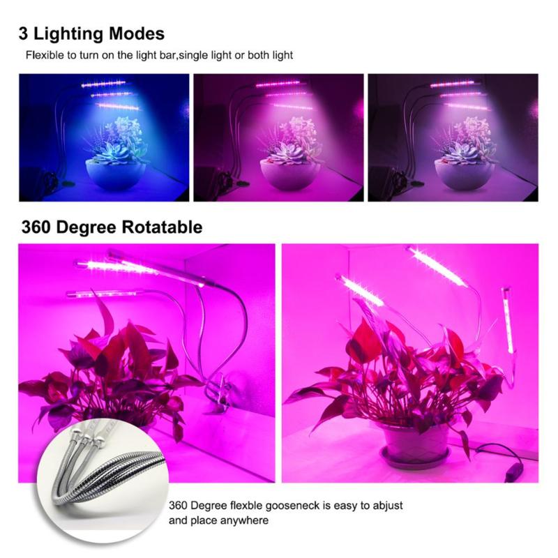 3 armige Groei Klemspot Bloeilamp Kweeklamp 3 LED Strips