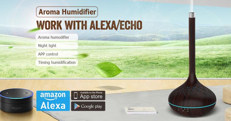 Aroma Diffuser - Aroma Verdamper - Olie Diffuser WiFi- Aroma Vernevelaar- Olie Verdamper - Luchtbevochtiger
