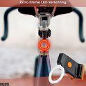 Fietslicht Achterlicht LED USB Oplaadbaar – Fel Rond Achterlicht – Herkenningslicht