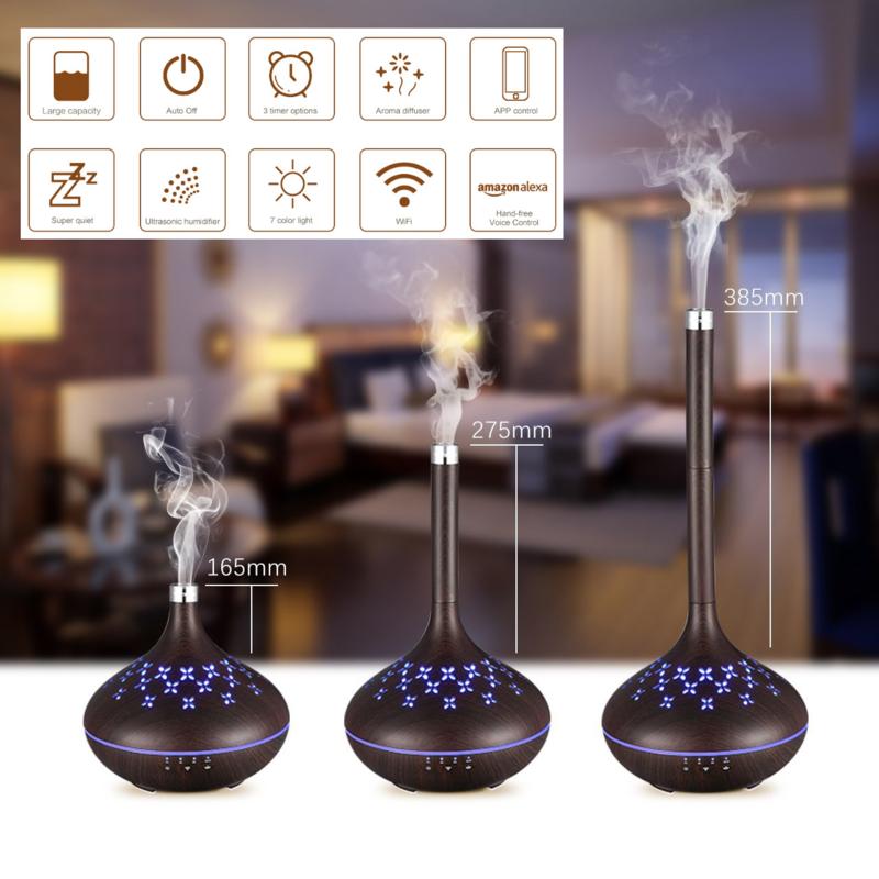 Olie Diffuser WiFi- Aroma Verdamper - Aroma Diffuser- Olie Verdamper - Luchtbevochtiger