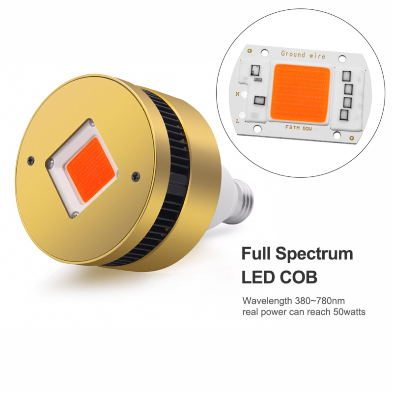 Groeilamp COB LED E27 - ACTIE Growlight LED 150W  interne koeling (Extra Rood t.b.v. bloei)