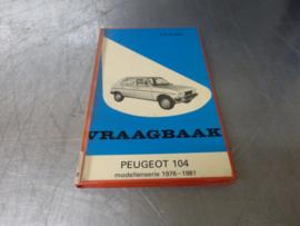 Auto Handbuch Peugeot 104 Baujahr 1976 bis 1981
