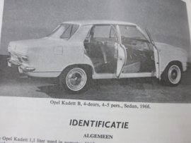 Vraagbaak Opel Kadett B vanaf 1965