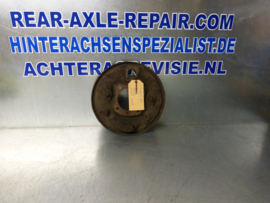 Caliper plate, right, with long pipe, Opel
