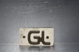"Embleem Opel Kadett, aanduiding ""GL"""