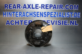 Caliper plate Opel Ascona A/Manta A, left (with long pipe)