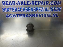 Wheel hub cap, Opel Rekord, black, plastic, used