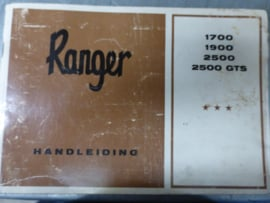 Handleiding Ranger 1700 , 1900, 2500, 2500GTS