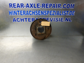 Caliper plate, left, with long pipe, Opel