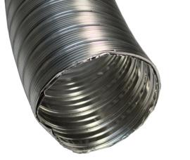 Flexibele rookkanaal Houtkachel 150 mm met nisbus ( 6 + meter )
