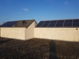 Zonnepanelen in Veghel 9 x Canadian solar 410 watt gemonteerd
