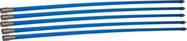 Professionele blauwe veegset 6,00m met nylonborstel