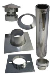 Compleet dakdoorvoer 150 mm plat dak Bitumen