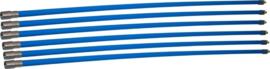 Professionele blauwe veegset 7,20m met nylonborstel
