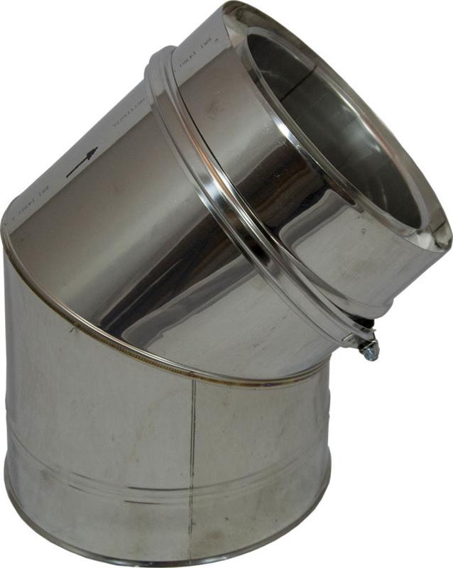 Isotube Plus 45 graden bocht 80/130 mm