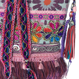 Gypsy crossbody colored with flowers and fringe