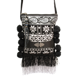 Festival bag Nordic with pompons and fringe