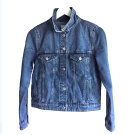 Embellished denim jacket colored Ibiza style paisley print