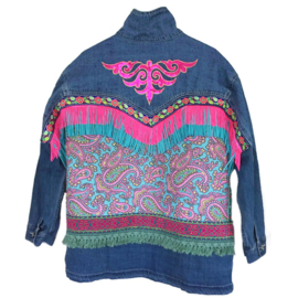 Embellished festival jacket with fringe and ornament