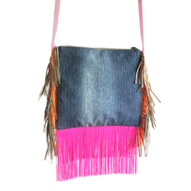 Festival purse neon colored Navajo with fringe