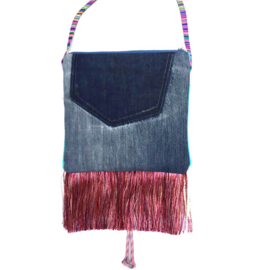 Festival purse with big heart in Ibiza style