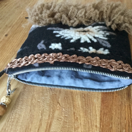 Festival shoulder bag in western style black brown