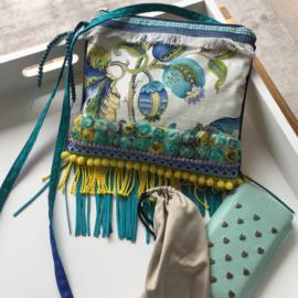 Ibiza festival purse turquoise yellow