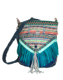 Bohemian crossbody with fringe in Ibiza style