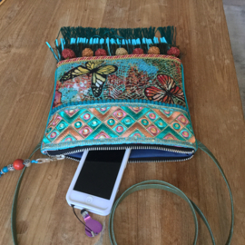 Festival bag with butterfly's Ibiza style