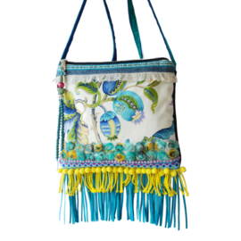 Ibiza festival purse turquoise yellow